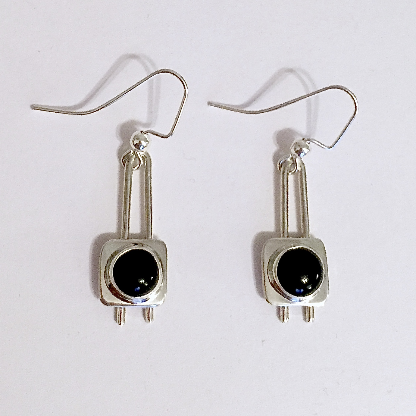 earrings stone gold onyx dsc lady detail cushion jewelry ladys colored square s white